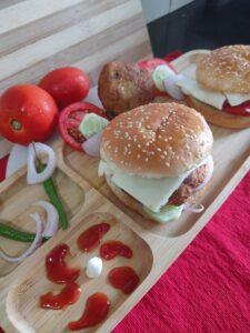 Pumpkin Aloo Tikki Burger