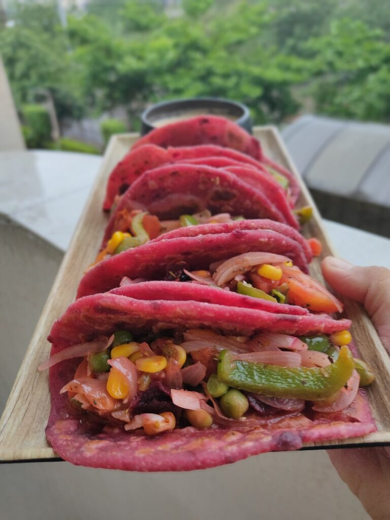 veg beetroot tacos