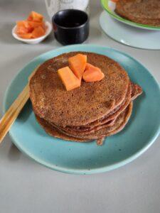 Ragi Pancakes eggless