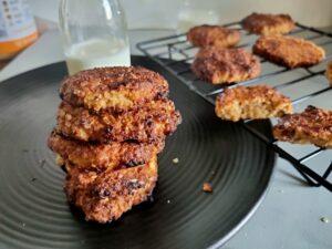 oats peanut butter cookies eggless