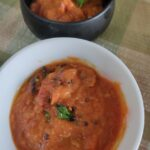 tomato garlic chutney dosa