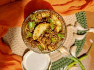 garlic green chilli achar recipe