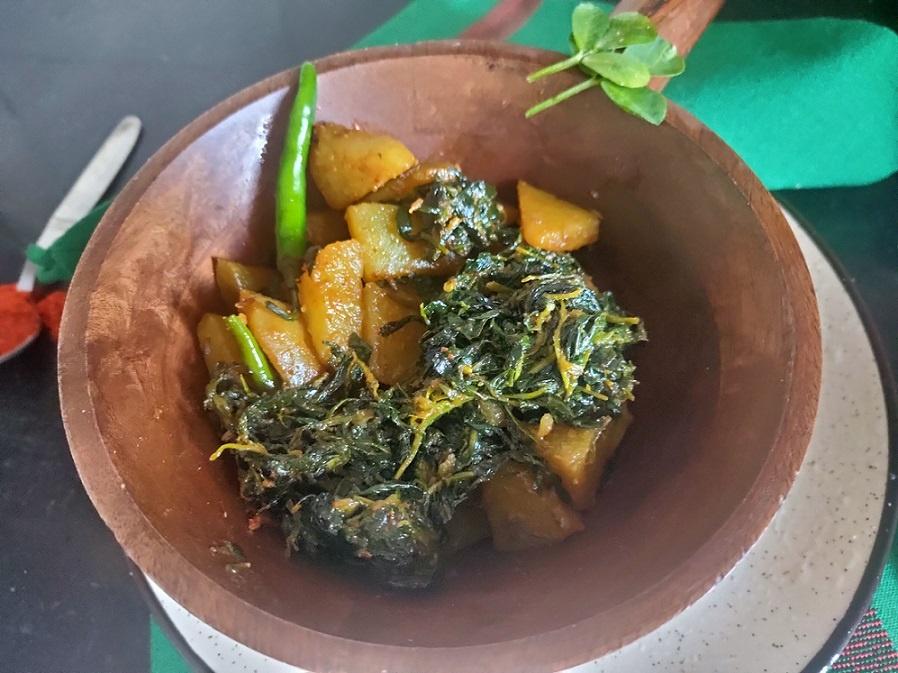 methi aloo subji healthy recipe