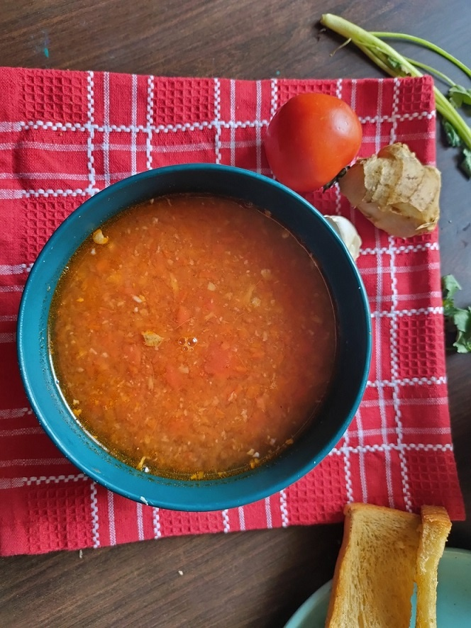 tomato ginger garlic soup for immunity
