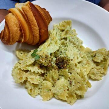 capsicum no-cheese vegan pasta