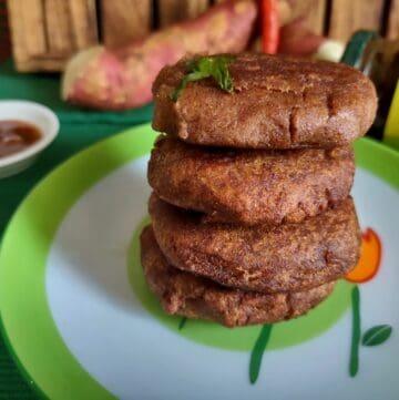 sweet potato tikki shakarkandi tikki recipe