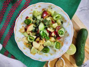 apple cucumber mint salad