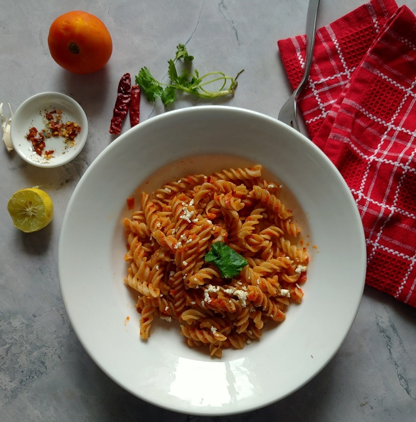 gluten free vegan tomato pasta