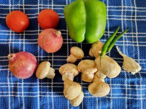 raw veggies before chopping